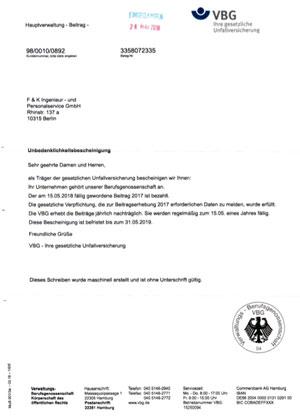 VBG Berufsgenossenschaft